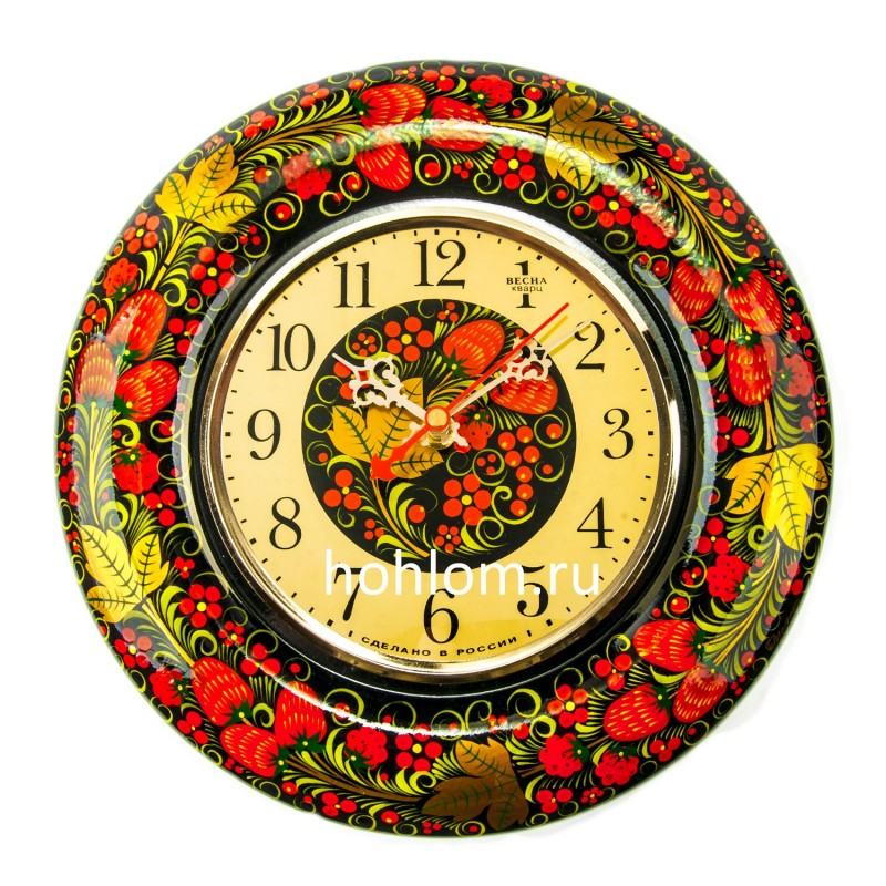 "Часы ""Весна"" (клубничка)"