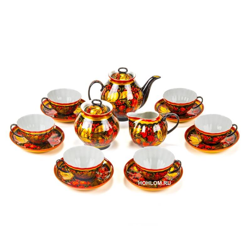 Сервиз чайный хохлома клубника
