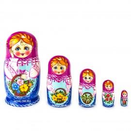 Русская матрешка 5 кукол Аня..