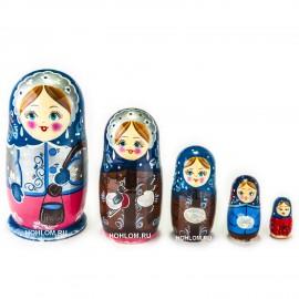 Русская матрешка 5 кукол  Ли..