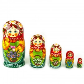 Русская матрешка 5 кукол Оля..