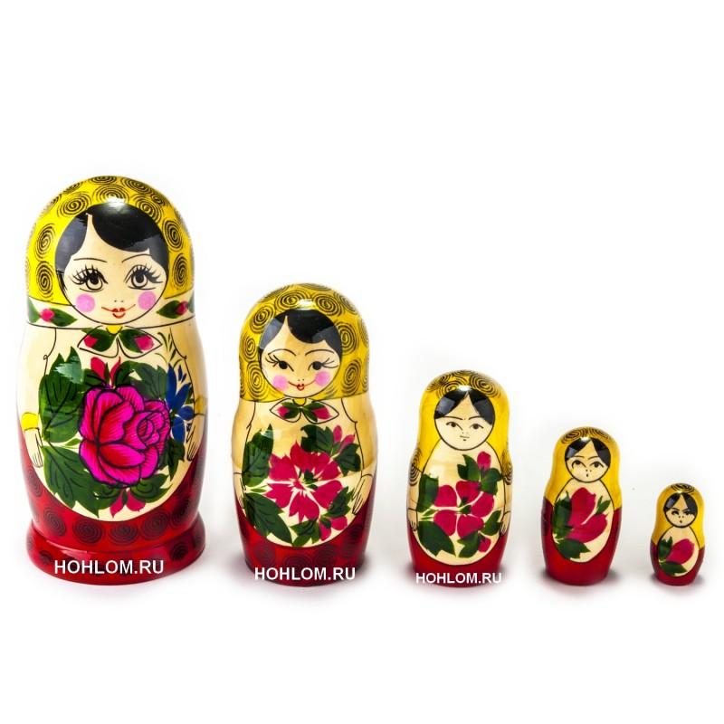 Матрешка традиционная 5 кукол