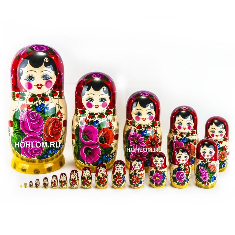 Матрешка традиционная 20 кукол